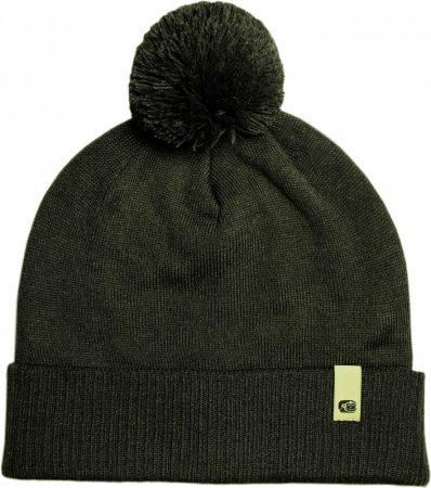RidgeMonkey Dropback Bobble Hat Green Téli Sapka