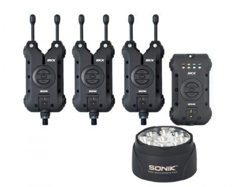 SONIK SKX 3+1 Elektromos Kapásjelző Szett 3+1 +Sátorlámpa
