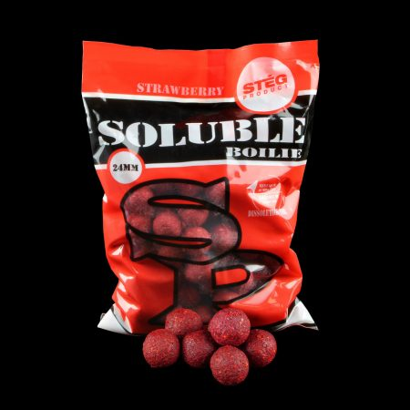 Stég Product Soluble Boilie 24mm Strawberry 1kg