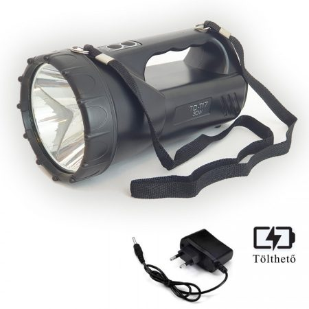 Ledes Beépített Akkus Kereső Lámpa P50 Led, Oldalvilágítással és Vállpánttal