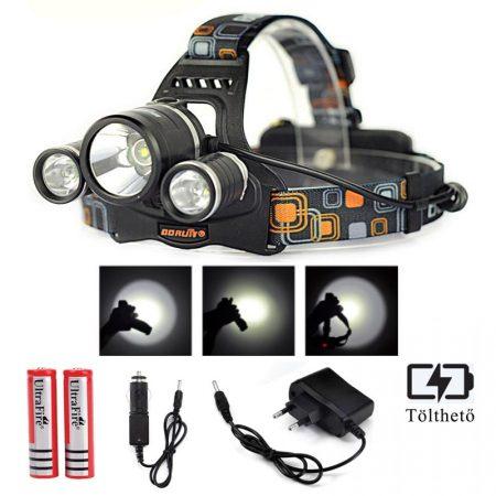 Ledes Cserélhető Akkus Fejlámpa Extra Erős T6 és Q5 LED Csepp és Porálló